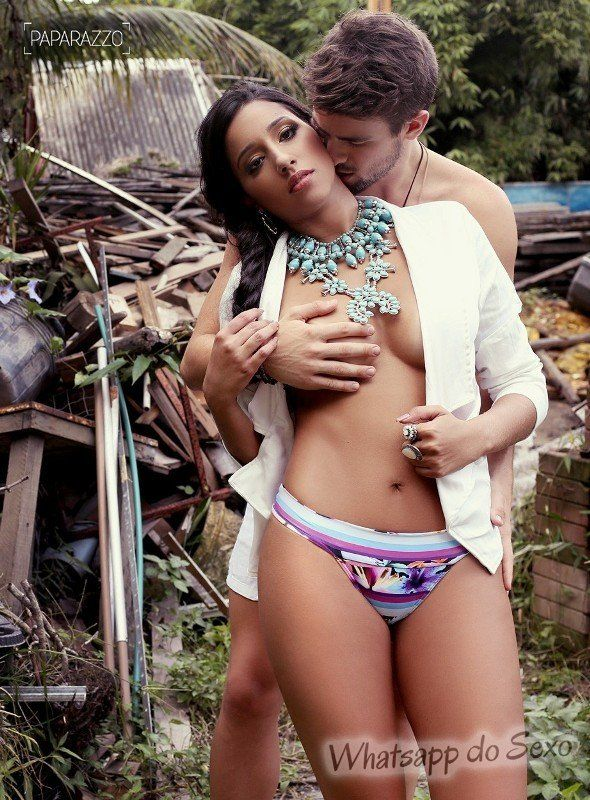 Rafael Licks e Talita Araújo do BBB15 na Paparazzo
